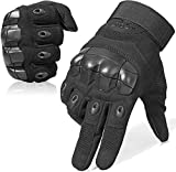 WTACTFUL Touch Screen Military Tactical Gloves Full Finger Airsoft Paintball Outdoor Army Gear Sports Cycling Motorcycle Motorbike Riding Shooting Hunting Work Men Women Size Medium Black