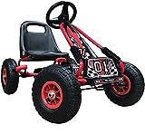 Pedal de rueda de goma Estilo de coche Kart, asiento ajustable Abrigo de freno de mano,Red