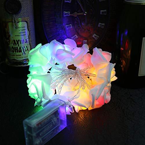 Lichtketting, werkt op batterijen, voor binnen en buiten, licht, werkt op batterijen, 2,2 m lang, violet