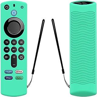 Remote Case Replacement for Alexa Voice Remote (3rd Gen) -2021 Release Fire TV Stick 4K Remote Silicone Cover Glow Remote ...