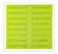Accuform Signs LHR104GNYL Adhesive Vinyl Retro-Reflective Hard Hat/Helmet Sticker, 1 Length x 4 Width x 0.014 Thickness, Fluorescent Lime Green Yellow (Pack of 16) by Accuform Signs