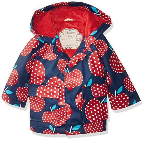 Hatley Printed Raincoats Imperméable, Pommes à Pois, 12 Mois Bébé garçon