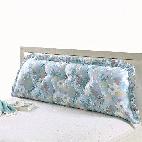ZWL Coussins de lit Coussins de coton double Coussin d'oreiller long Coussin de dossier Coussin de siège lombaire mode z (Couleur : #2, taille : 90cm)