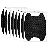 8 Pcs Universal Carbon Fiber Pattern Auto Car Door Handle Cup Scratch Protection Films, Car Accessories, Fashion Car Stickers, Exterior Paint Protection Film Guards Adhesive Protector