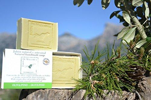 Natürliche Kiefer und Olivenölseife aus Mallorca