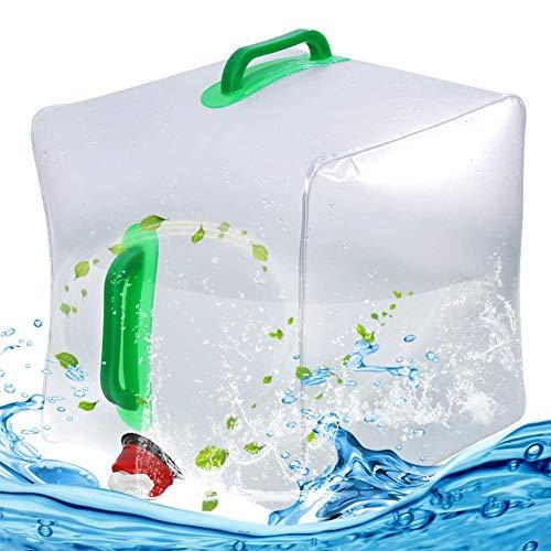 BESTZY Bidon d'eau Réservoir d'eau Portable Pliable PVC Grande Capacité pour Camping d'escalade extérieur Hurricane Flood Tremblement de Terre Les urgences - 20L