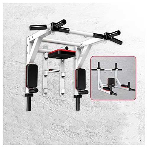 NENGGE Barras de Dominadas Pared Multifuncional Wall Pull Up Bar Barra de Tracción Workout Bar Barra de Tracción de Fitness Multiagarre Barra de Ejercicio para Espalda Gimnasio en Casa,Blanco