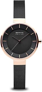 BERING Womens Analogue Solar Powered Watch with Stainless Steel Strap 14631-166