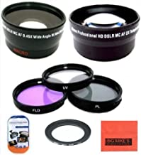 Deluxe Lens Kit for Canon PowerShot SX500 is 16.0 MP Digital Camera Includes 67mm 3PC Filter Kit + 67mm 2X Telephoto Lens + 67mm 0.45x Wide Angle Lens with Macro Filter Adapter + More!!