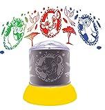 Lexibook NLJ030AN Disney Der König der Löwen, Nachtlicht, leuchtende Projektionen an der Decke, Lion King-Ikonen, Simba, Timon, Pumbaa, Kinderzimmerlampe, Dekoratives Farblicht -