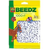 SES Creative Paquete de 1000 Cuentas para Planchar de Color Blanco para niños SES, (00700)
