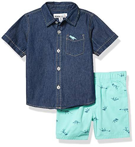 Kids Headquarters Boys' Shorts Set, Denim Blue, 3T