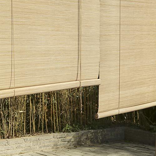 Bambusrollo Außen/Innen Bambus Rollo Jalousien, Outdoor Patio Pavillon Veranda Carport Sonnenschutz Jalousien, Unterstützung Anpassung (Size : W120cm X H120cm)