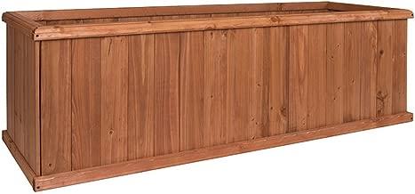 Greenstone 100079 Churchill Cedar Planter Box, Large, Heartwood