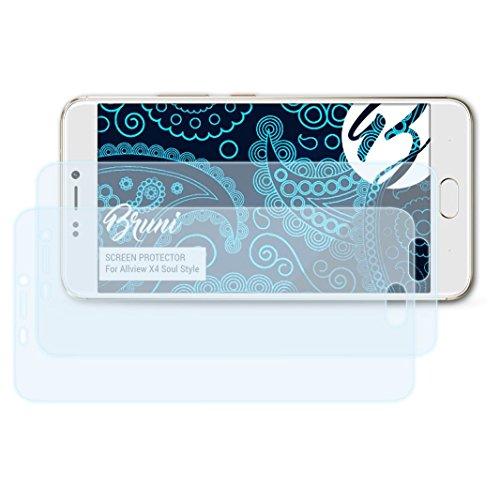 Bruni Schutzfolie kompatibel mit Allview X4 Soul Style Folie, glasklare Bildschirmschutzfolie (2X)