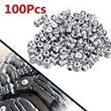 N\A Car Wheel Tire Anti-Skid Snow Chain 100pcs Winter Wheel Lugs Car Tires Studs Screw Snow Spikes Wheel Tyre Snow Chains Studs For Shoes ATV Car Motorcycle Tire 8x10mm (Color Name : 400pcs)