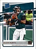 2020 Donruss Football #314 Jalen Hurts RC Rookie Philadelphia Eagles Official NFL Trading Card by Panini America. rookie card picture
