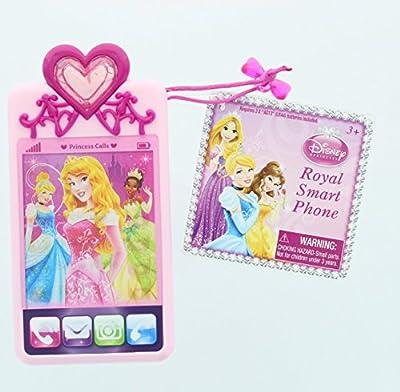 Disney Princess Royal Deluxe Toy Mobile Phone - Ariel, Aurora, Cinderella, Rapunzel, Snow White, Tiana by Jakks