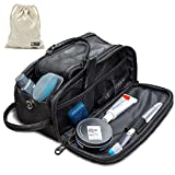 Toiletry Bag for Men or Women - Dopp Kit For Travel. Large Cosmetic and Shaving Bag. Toiletries Organizer PU Leather Bags