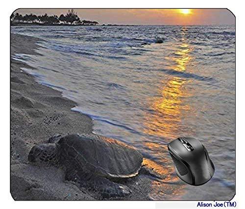 Beautiful Sunset and Honu Turtle in North Kona Big Island Hawaii Mousepad Gaming Mouse Pad
