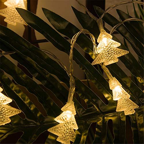 YLSMN Luces de decoración en forma de árbol de Navidad cadena luces de neón estrelladas festival al aire libre a prueba de agua LED luces pequeñas lampara de mesa