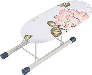 Mini Tabla de Planchar Tabla de Planchar con Patas Plegables Cubierta de Algodón para La Manga Inicio Viajes Puños Collares Mesa de Manipulación(Peony)