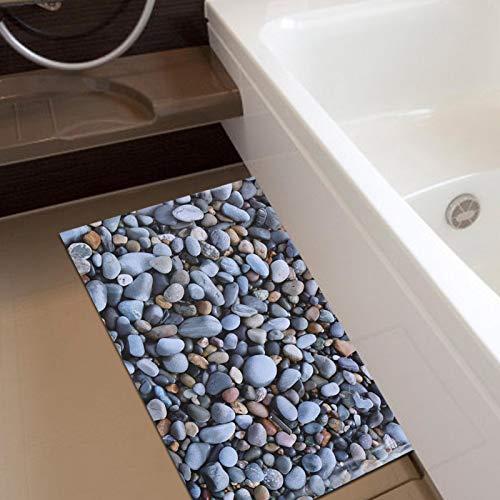 Emoshayoga Sala de Estar 3D de Sticke de Piso extraíble de adoquines para decoración del hogar Pasillo de baño