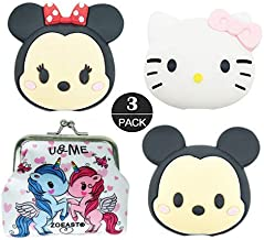 ZOEAST(TM) 3pcs White Cat Kitten Cartoon Animal Bites Protector USB Charger Saver Charging Data Earphone Line Compatible with All iPhone iPad iPod and Most Android (Mickey Minnie Kitty)