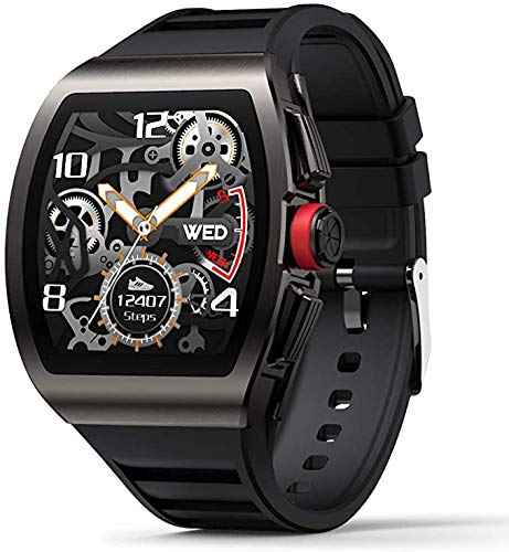 ZBHWYD Los relojes inteligentes para hombre son adecuados para teléfonos Android e iOS, reloj de monitoreo de frecuencia cardíaca y presión arterial, IP68 resistente al agua, color negro