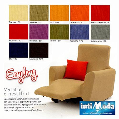 Copripoltrona Poltrona Reclinabile Sofà Cover Easy Long prodotto italiano (Sabbia)