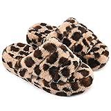 Honalika Comfy Open Toe House Slippers for Women Indoor, Cozy Soft Women's Memory Foam Home Slippers Slip On, Woman Breathable Non-Slip Slide Houseshoes Bedroom Slippers