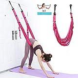 Correa de yoga aérea, banda de fitness para entrenamiento de cintura, piernas, torsión de puerta, correa ajustable – Back bend Up Down para práctica de yoga, bailarinas, gimnasia, alivio del dolor.