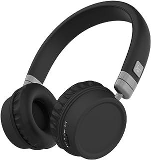 KitSound Harlem Wireless Bluetooth On-Ear Headphones with Mic - Black