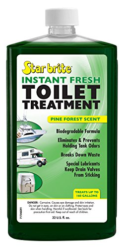 Star Brite Instant Fresh Toilet Treatment Concentrate - Eliminates & Prevents Holding Tank Odors - Biodegradable, 32 Oz Pine