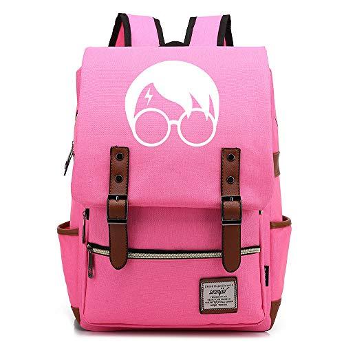 NYLY Gioventù zaino leggero impermeabile Oxford Cloth Cloth zaino Harry Potter Avatar Bag Unisex Grande Rosa brillante