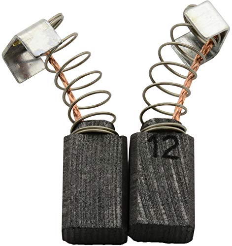 Buildalot Specialty Kohlebürsten ca-17-37643 für Protool Bohrmaschine DRP 13-2 EQ - 5x8x12,5mm - Mit Automatischer Abschaltung, Federn, Kabel und Stecker - Ersatz für Originalteile 627005