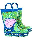 Peppa Pig George Pig & Dinosaur Boy's Wellies Botas de Agua para niños
