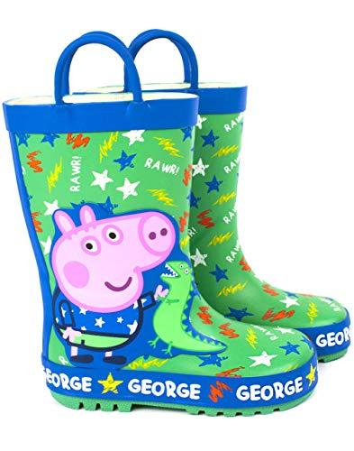 Peppa Pig George Pig & Dinosaur Boy's & Girl's Wellies Bottes Wellington Enfants