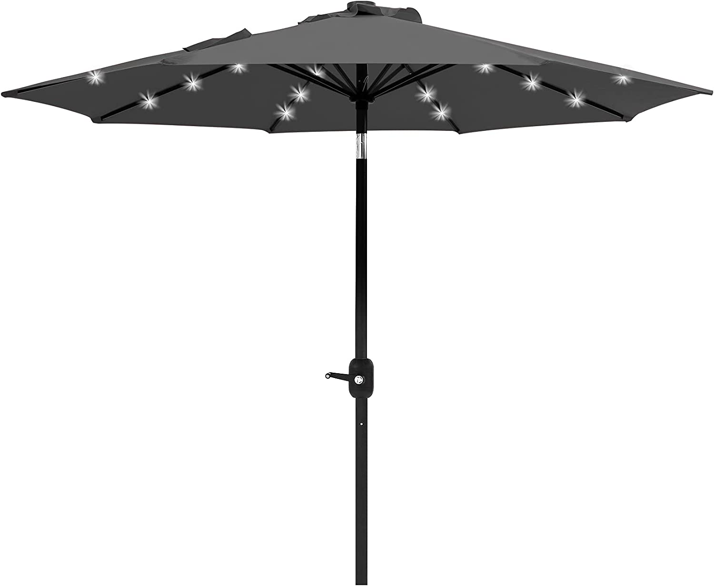 Ralawen Super special price Max 48% OFF 10ft Solar Patio Umbrella Outdoor Light Market LED Table