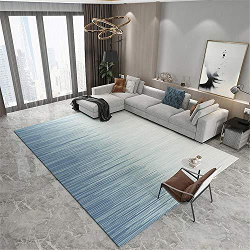 RUGMYW Absorción De Humedad alfombras de Pasillo Patrón Degradado Azul Beige Alfombra Escritorio 40X60cm
