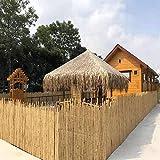 Plantas Artificiales Decorativas Balcón Valla de bambú Pantalla de privacidad Conexión de decoración de jardín al Aire Libre Fácil de Instalar