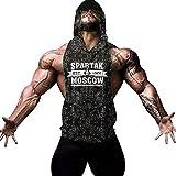 Cabeen Hombre Camiseta de Tirantes sin Manga con Capucha Tank Top Fitness Gimnasio