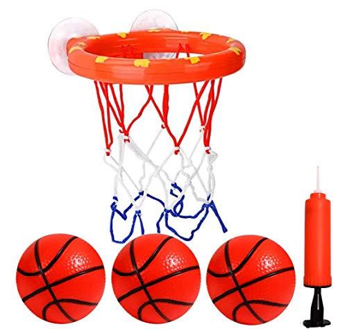 CYFIE Mini Basketballkorb, Mini Basketball Set mit 3 Basketbälle und 1pcs Luftpumpe, Kinder Basketball Brett mit Saugnapf Spielzeug Freizeit Sport mit Ball für Büro, Schlafzimmer, Badezimmer