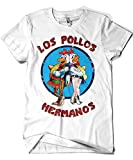 1526-Camiseta Breaking Bad - Los Pollos Hermanos Blanco