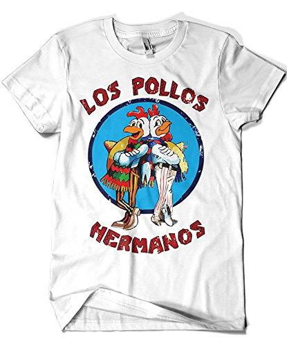 1526-Camiseta Breaking Bad - Los Pollos Hermanos