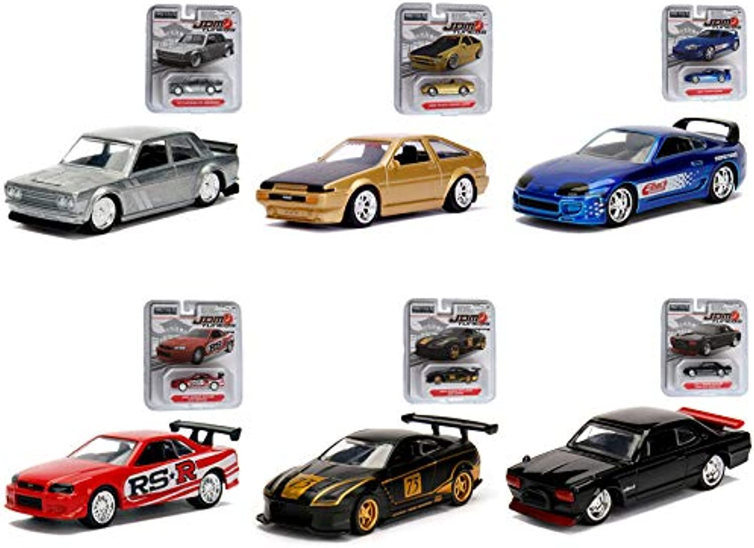 Jada 1 64 Tuners DieCast Wave 4 6Piece Car 6 in 1 Set Model