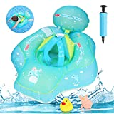 Achort Anillo de Flotador de bebé Recién Nacido Baño Anillos Seguridad Seguridad Ayuda Flotador Nadar Inflable Flotador Anillo, para Bebé 6-36 Mes Elefante(Green)