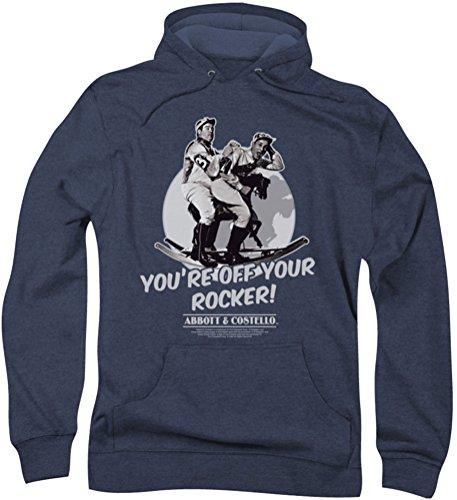 Abbott & Costello - - Hommes Off Your Rocker Hoodie, Large, Navy