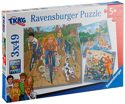 Ravensburger Kinderpuzzle 08066 - Abenteuer mit TKKG - 3 x 49 Teile