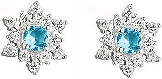 FarryDream 925 Sterling Silver Fashion Shell Pearl Dangle Earrings for Women Teen Girls Geometrical Earrings